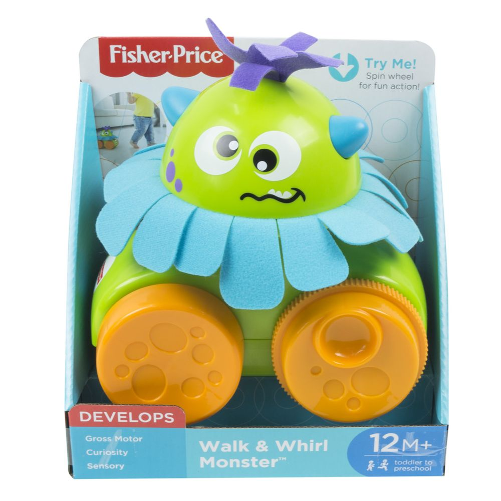 Fisher Price Walk Whirl Monsters Pull Toy - Toyworld