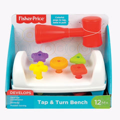 Fisher Price Infant Toys Tap & Turn Bench - Toyworld