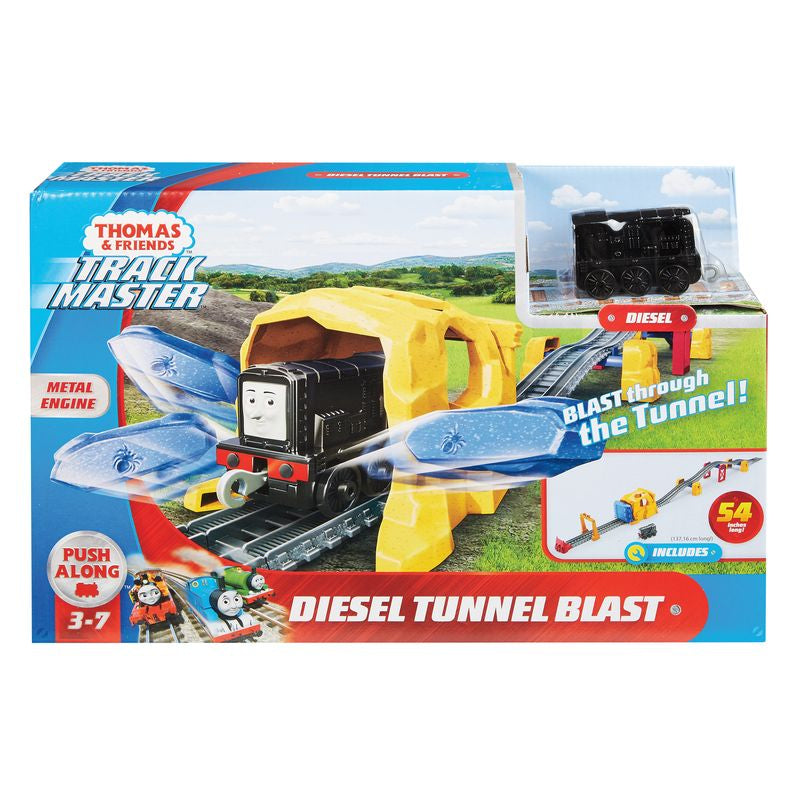 Fisher Price Thomas Friends Trackmaster Push Along Diesel Tunnel Blast Set - Toyworld