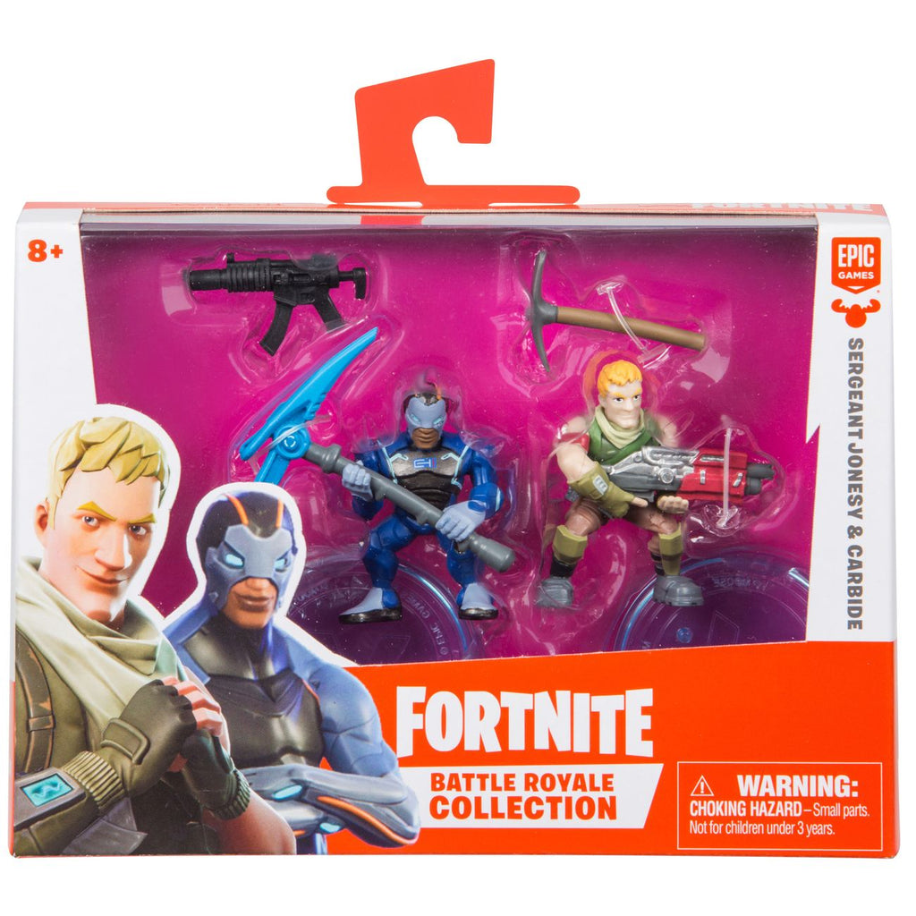 FORTNITE FIGURES 2 PACK SERGEANT JONESY AND CARBIDE