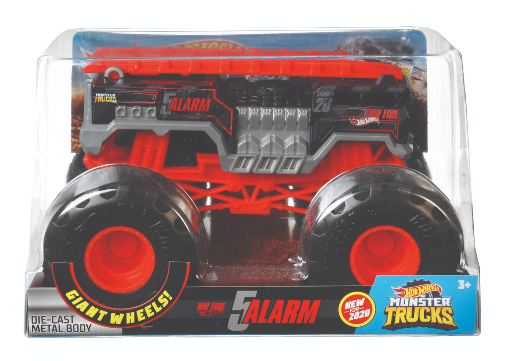 HOT WHEELS MONSTER TRUCKS 1:24 5 ALARM