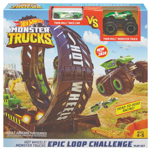 Hot Wheels Monster Truck Epic Loop Challenge Playset - Toyworld