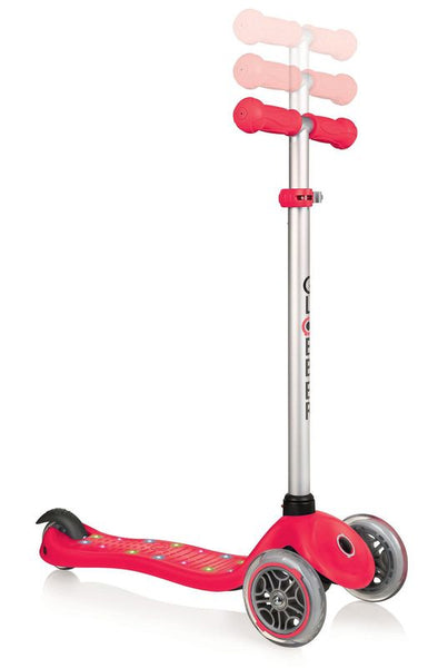 GLOBBER PRIMO STARLIGHT WITH LIGHT UP DECK  RED