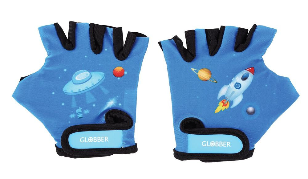 Globber Toddler Gloves Rocket Blue Size Xsmall - Toyworld