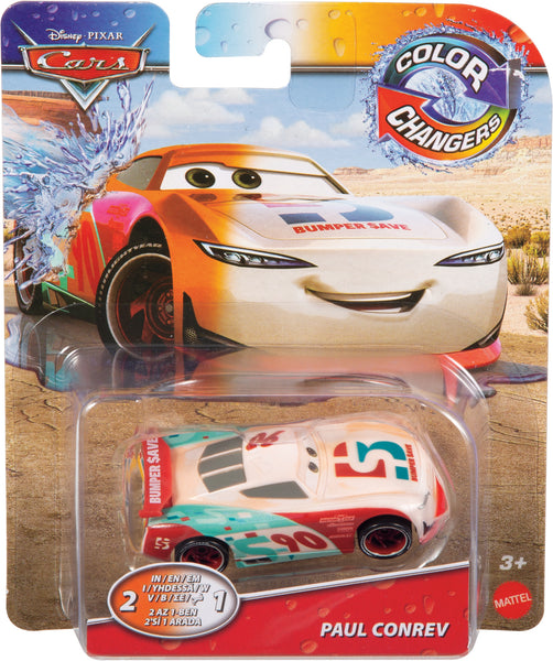 Disney Cars Color Change Paul Conrev - Toyworld