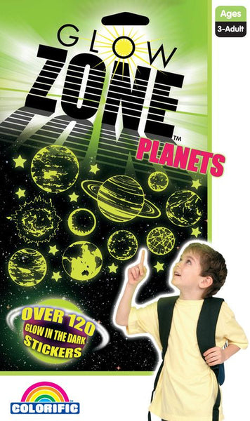 Glow Zone Planets Stickers - Toyworld