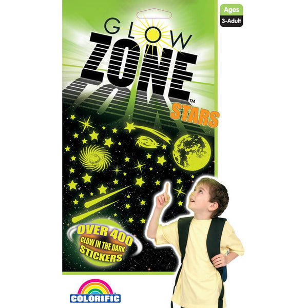 Glow Zone Stars 250 Stickers - Toyworld