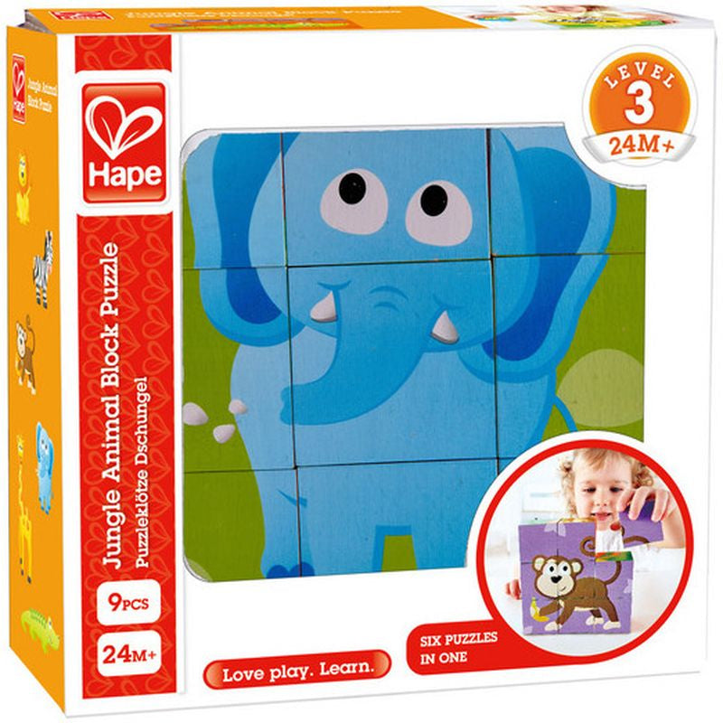 Hape Jungle Animal Block Puzzle - Toyworld