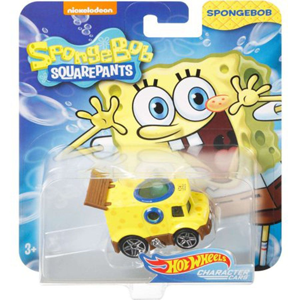 HOT WHEELS SPONGE BOB SQUAREPANTS CHARACTER CARS SPONGEBOB
