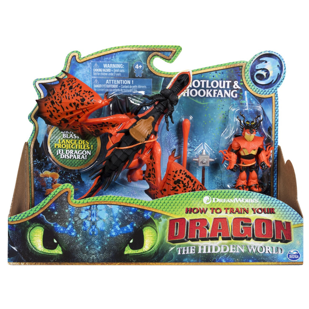 How To Train Your Dragon Dragon & Viking Hookfang - Toyworld