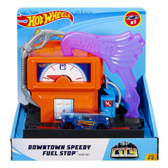 Hot Wheels City Downtown Speedy Fuel Stop - Toyworld
