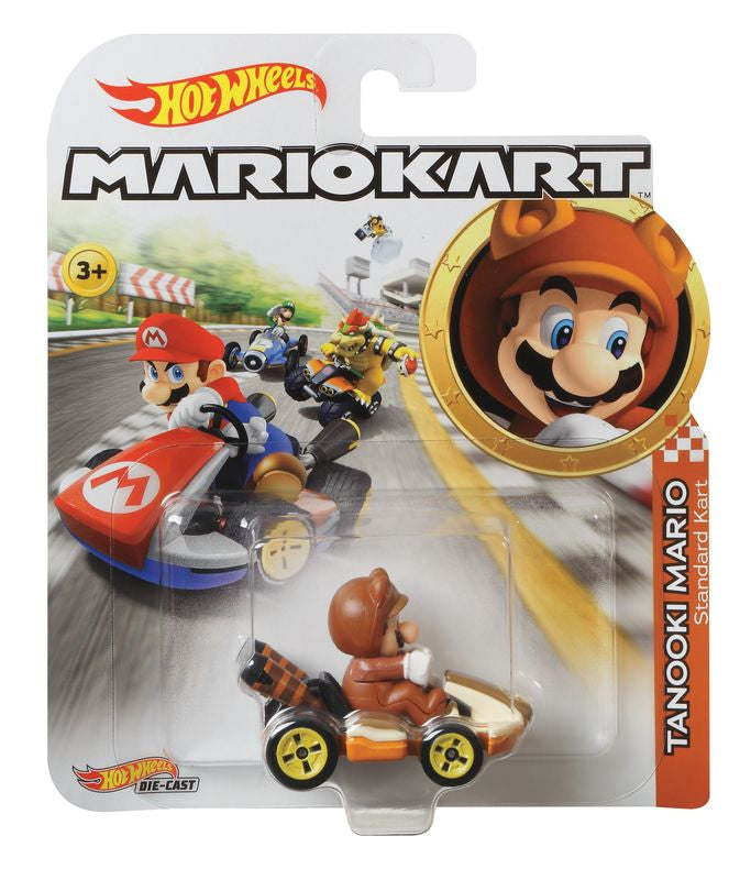 HOT WHEELS MARIO KART TANOOKI MARIO