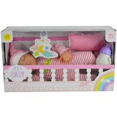 ITS A BABY SLEEPING DOLL WITH SOUND AND ACCESSORIES