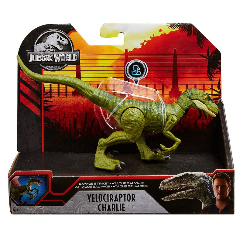 Jurassic World Savage Strike Velociraptor Charlie - Toyworld