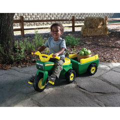 RIDE ON JOHN DEERE TRIKE AND WAGON