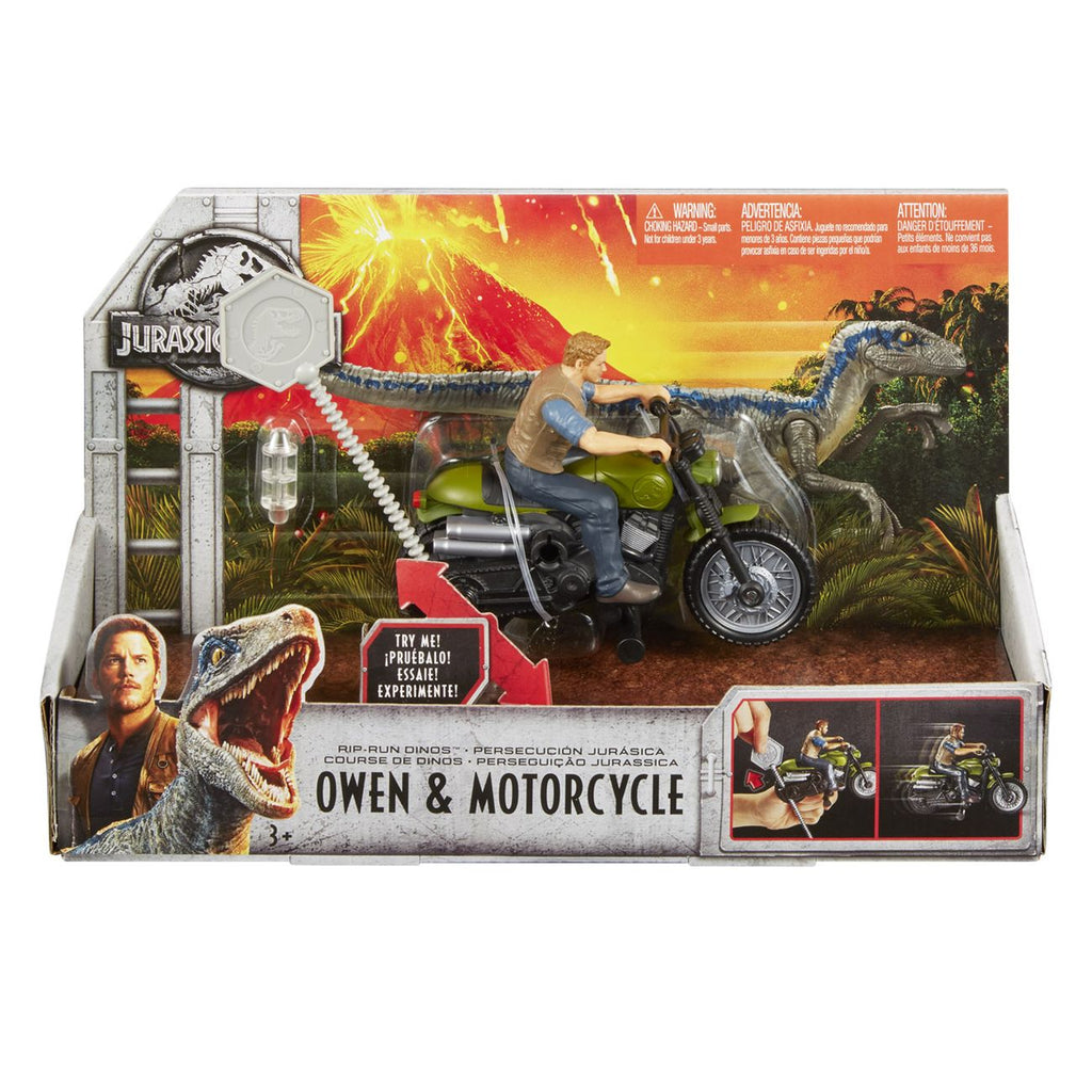 Jurassic World Rip Run Dinos Owen Motorcycle - Toyworld