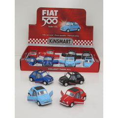 Kinsmart Fiat 500 Pullback Assorted Styles - Toyworld