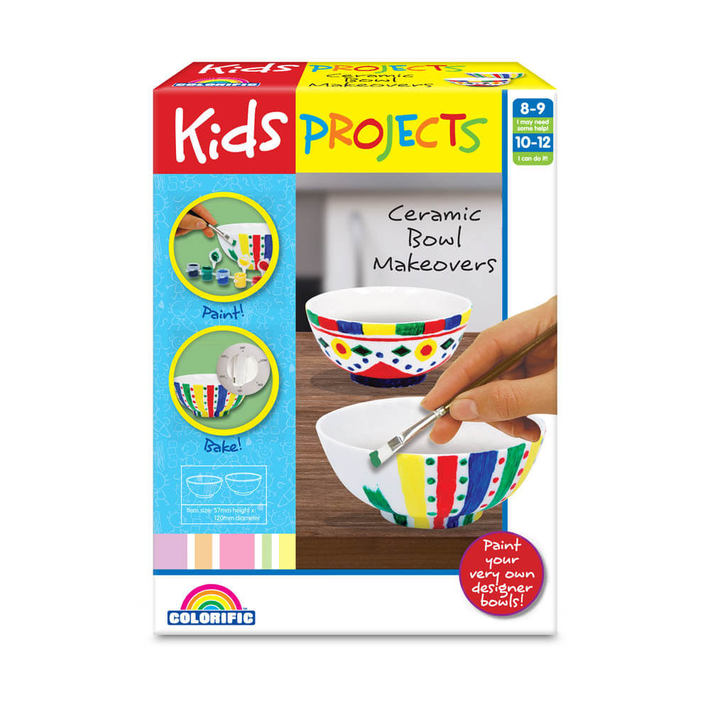Kids Projects Ceramic Bowls Makeovers - Toyworld