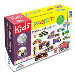 Kids Projects Plaster Vehicles Kit - Toyworld