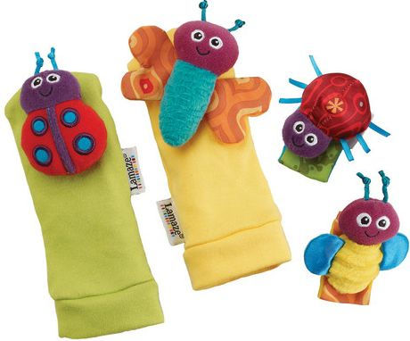 LAMAZE GARDEN BUG FOOTFINDER AND WRIST RATTLE