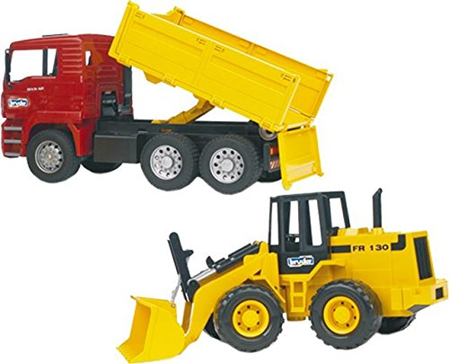 BRUDER 1:16 MAN TGA CONTRCTION TRUCK WITH ARTICULATED FRONT LOADER