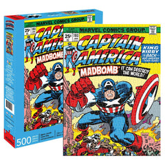 Marvel Captain America Cover 500 Piece Puzzle - Toyworld