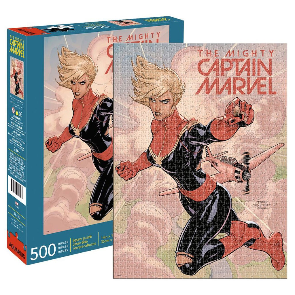 Marvel Captain Marvel Cover 500 Piece Puzzle - Toyworld