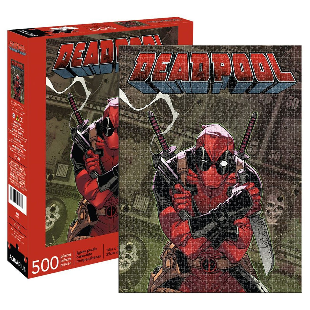 Marvel Deadpool Cover 500 Piece Puzzle - Toyworld