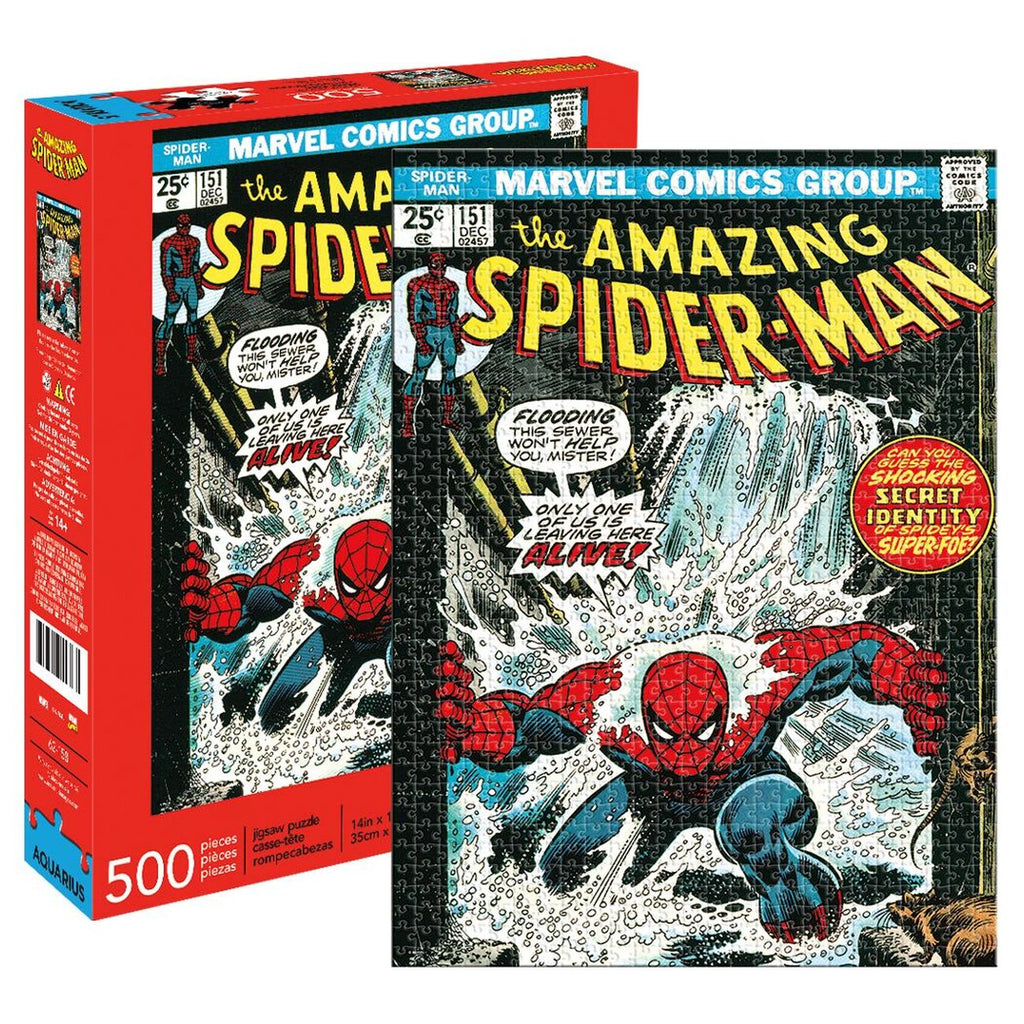 Marvel Spiderman Cover 500 Piece Puzzle - Toyworld