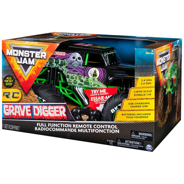 Monster Jam 1:10 Remote Control Grave Digger - Toyworld