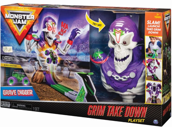 MONSTER JAM 1:64 GRIM TAKE DOWN PLAYSET
