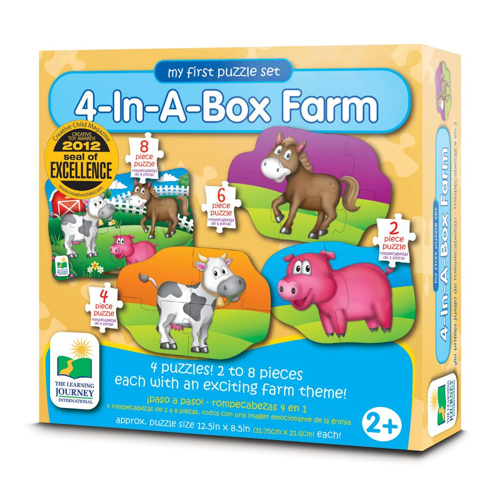 MY 1ST 4 IN A BOX FARM PUZZLES