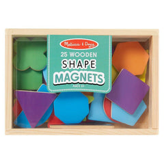 MELISSA & DOUG - MAGNETIC WOODEN SHAPE 25 PIECES - Toyworld