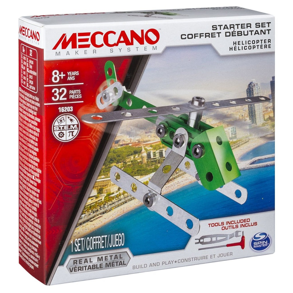 Meccano 1 Model Starter Set Helicopter - Toyworld
