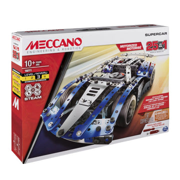 Meccano 25 Model Set With Motor Supercar - Toyworld