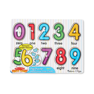 Melissa Doug Numbers Peg Puzzle - Toyworld