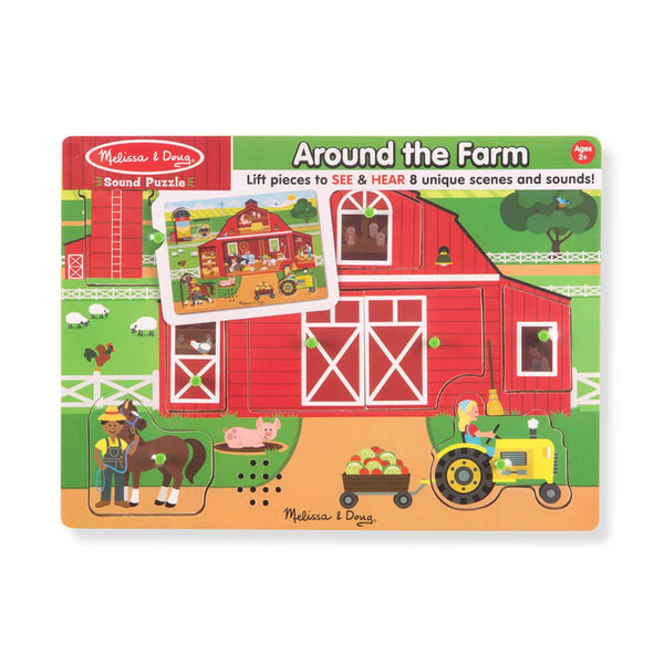 Melissa Doug Sound Puzzle Around The Farm - Toyworld