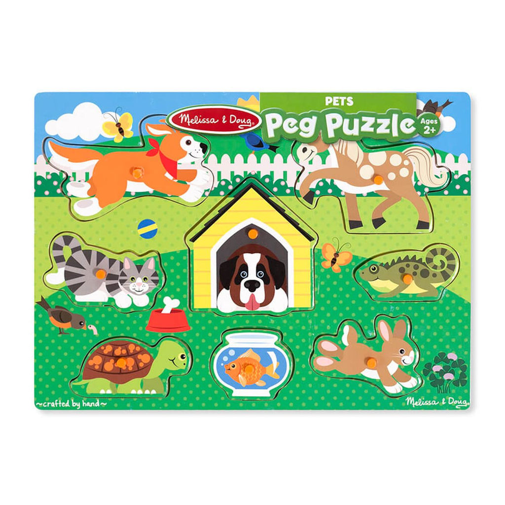Melissa Doug Peg Puzzle Friendly Pets - Toyworld