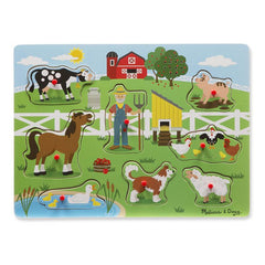 MELISSA & DOUG - OLD MCDONALDS FARM SONG PUZZLE - 8PC