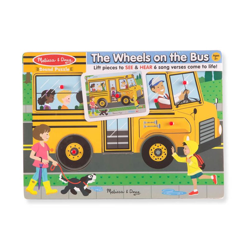Melissa Doug See Hear Sound Puzzle The Wheels On The Bus - Toyworld
