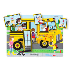 Melissa Doug See Hear Sound Puzzle The Wheels On The Bus Img 1 - Toyworld