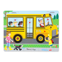 Melissa Doug See Hear Sound Puzzle The Wheels On The Bus Img 2 - Toyworld
