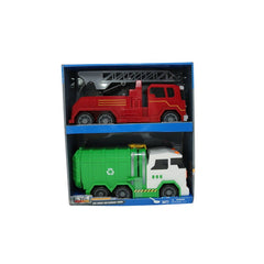 Motor Extreme Lights Sounds Fire Engine & Garbage Truck Img 2 - Toyworld