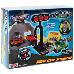 Motor Max Mini Transforming Playset With Car Assorted Styles - Toyworld