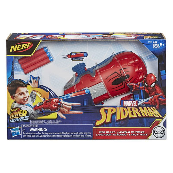 Nerf Power Moves Marvel Spiderman Web Blast - Toyworld