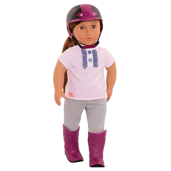 OUR GENERATION DOLL WITH RIDING OUTFIT ELLIANA