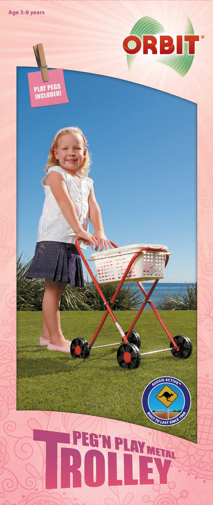 Orbit Peg N Play Metal Trolley - Toyworld