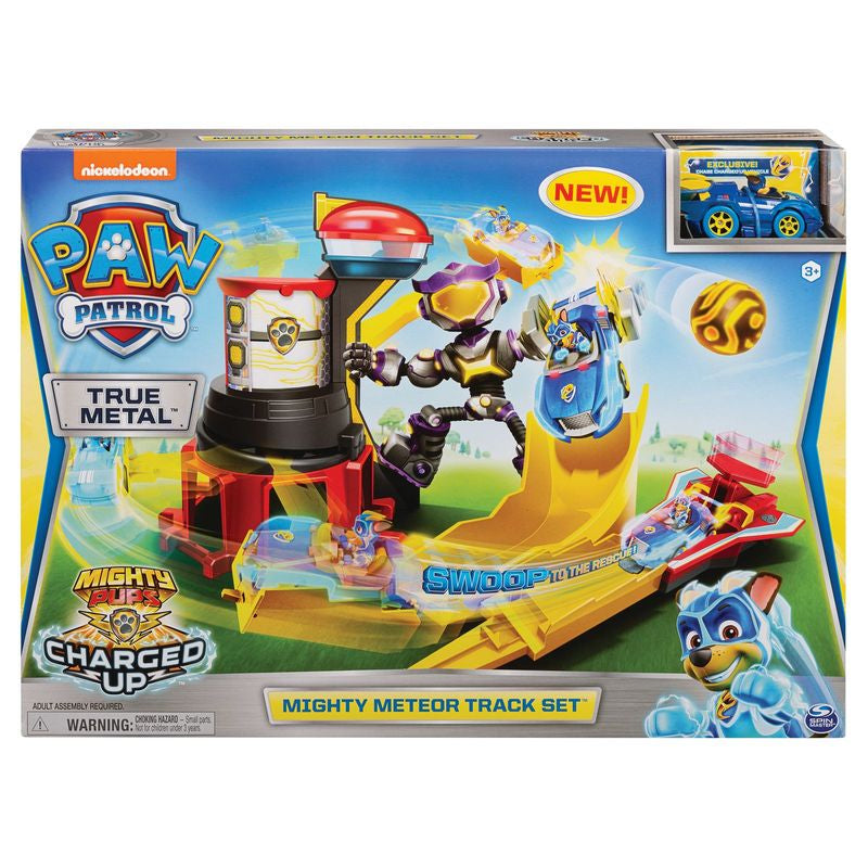 Paw Patrol Mighty Pups Mighty Meteor Track Set - Toyworld