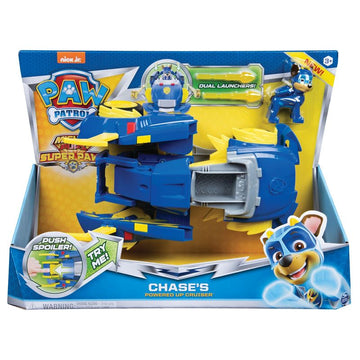 Paw Patrol Super Paws Power Changing Vehicle Chases Powered Up Crusier - Toyworld