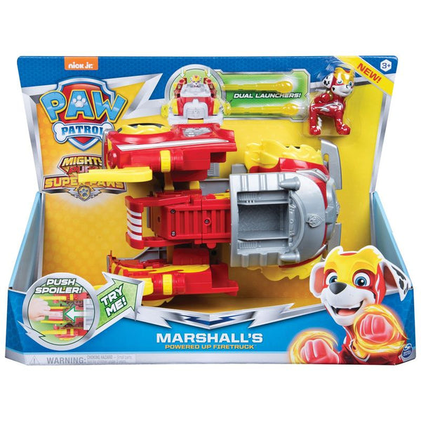 Paw Patrol Super Paws Power Changing Vehicle Marshalls Powered Up Firetruck - Toyworld